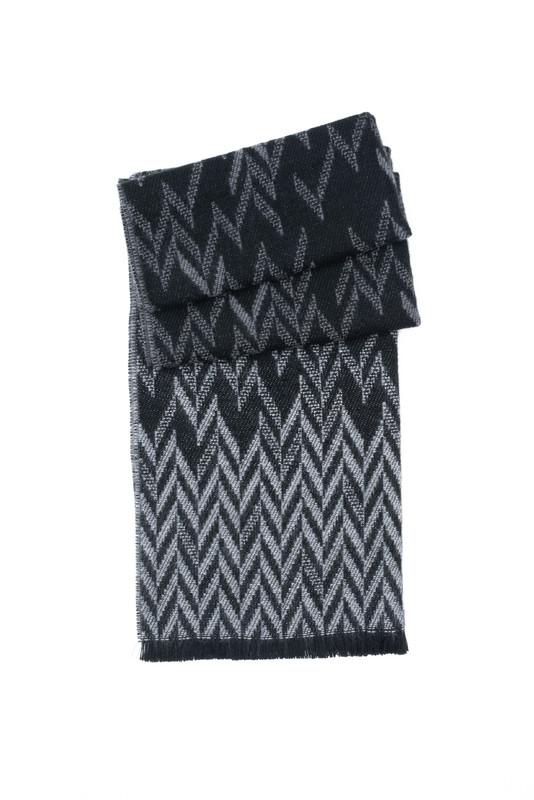 Šála informal, barva černá, šedá