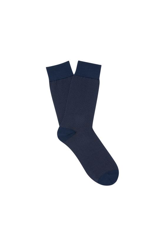 Ponožky informal, barva hnědá, modrá