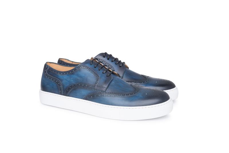 Obuv informal, barva modrá