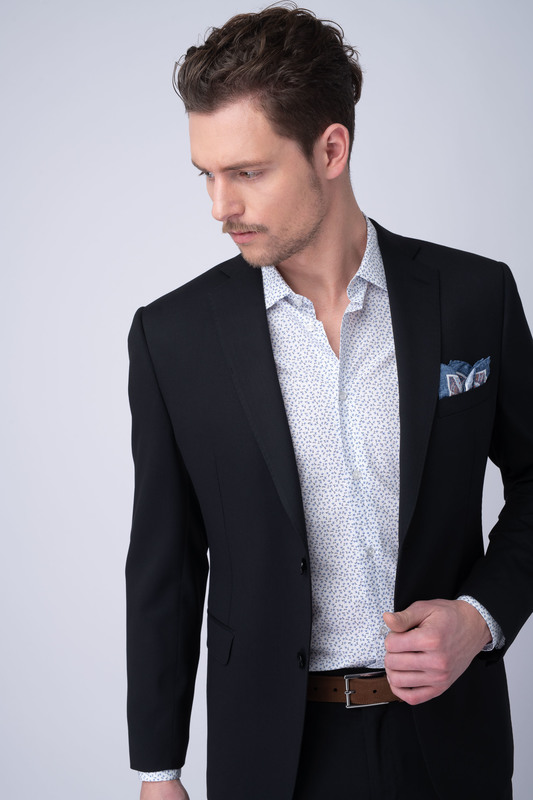 Oblekové sako essential slim, barva černá
