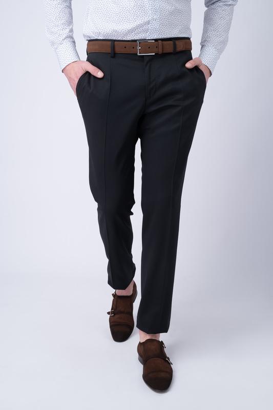 Oblekové kalhoty essential slim, barva černá