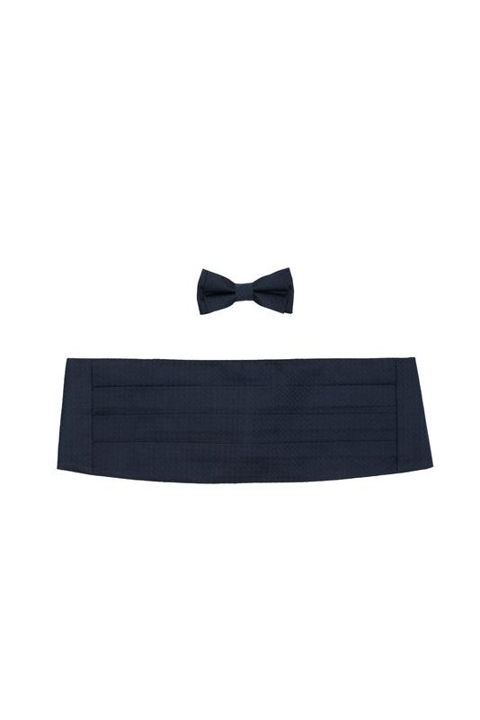 Set pás, motýlek ceremony, barva černá, modrá