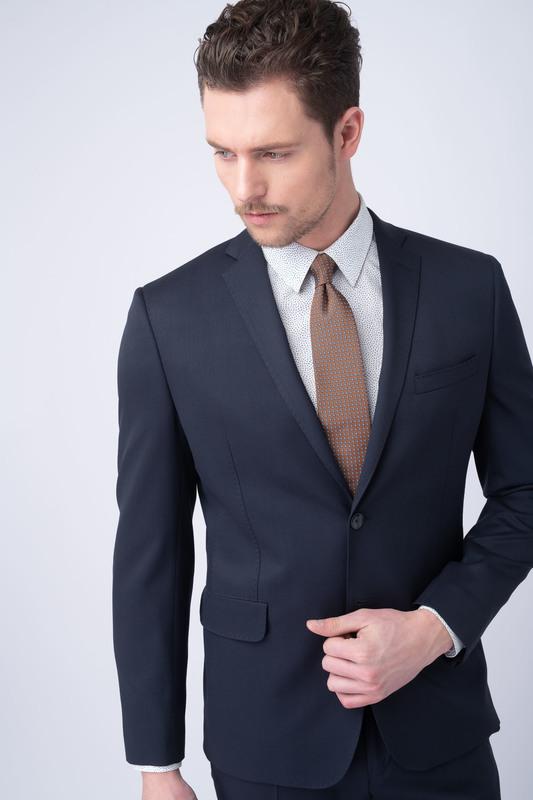 Oblekové sako essential extra slim, barva modrá