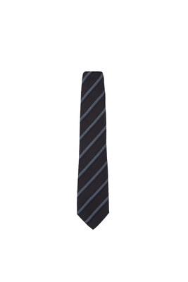 Kravata informal, barva hnědá, modrá, šedá