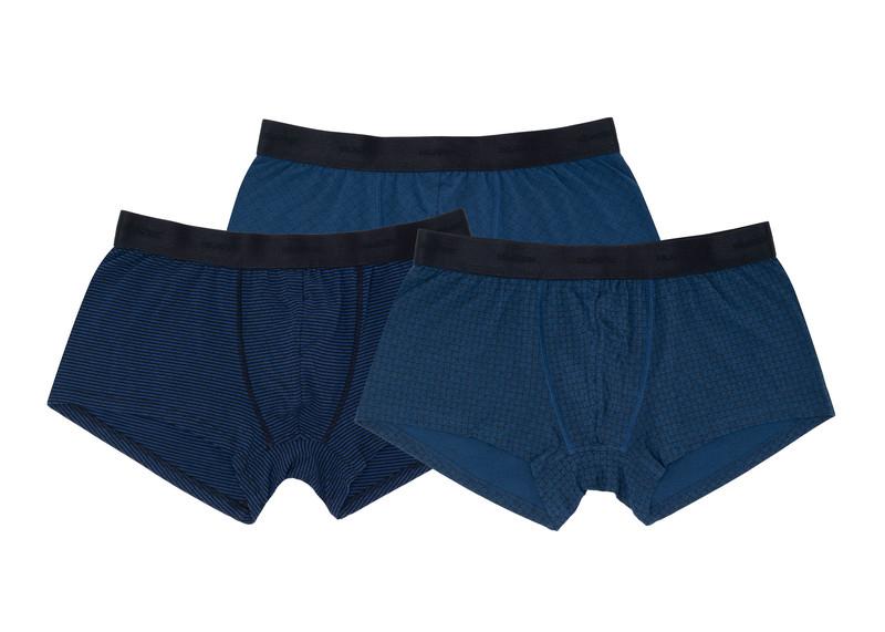 3pack - boxerky informal, barva černá, modrá