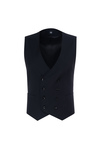 Obleková vesta formal slim, barva černá