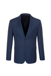Oblekové sako formal slim, barva modrá