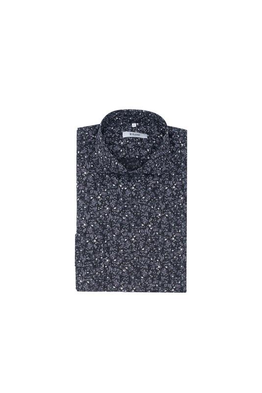 Košile informal slim, barva černá