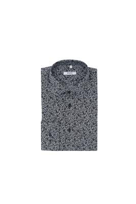 Košile informal slim, barva bílá, černá