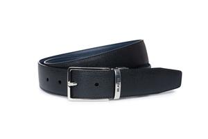 Opasek formal slim, barva černá, modrá