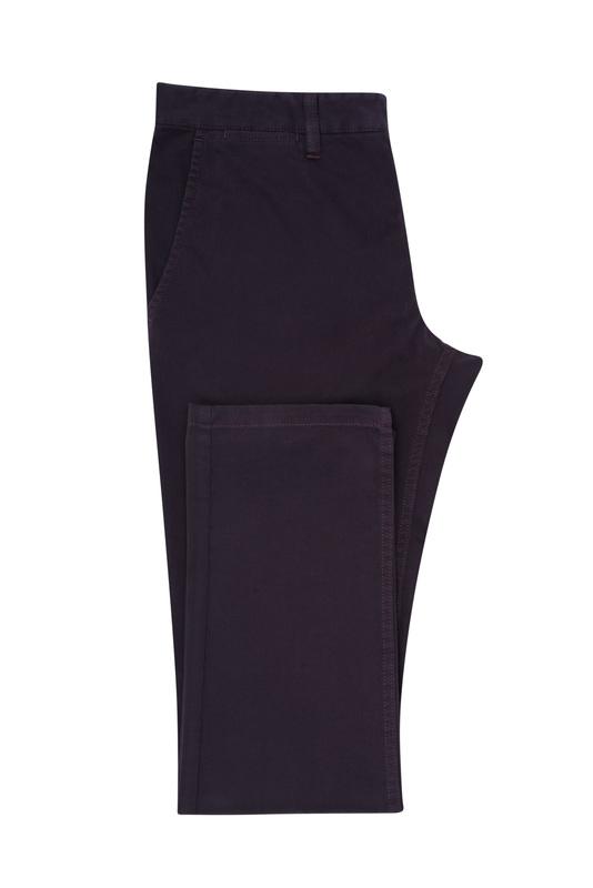Kalhoty informal extra slim, barva vínová
