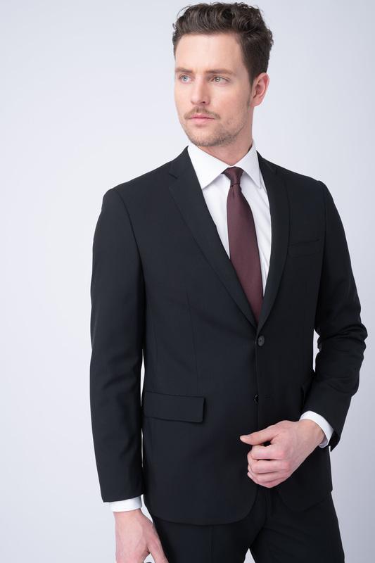 Oblekové sako essential extra slim, barva černá