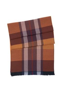 Šála informal, barva oranžová, modrá, šedá
