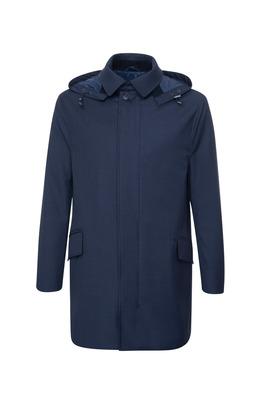 Plášť informal slim, barva modrá