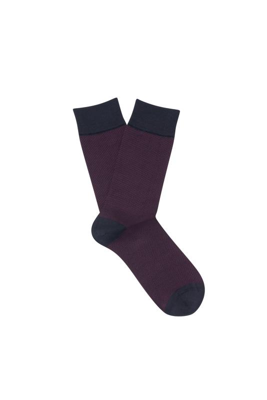 Ponožky informal, barva hnědá, červená