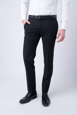 Oblekové kalhoty essential extra slim, barva černá