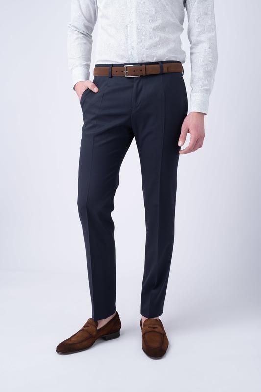 Oblekové kalhoty essential extra slim, barva modrá