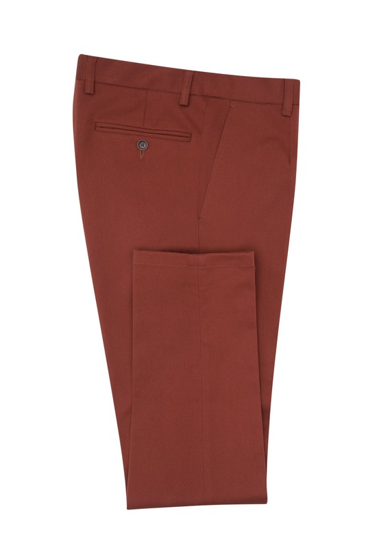 Kalhoty informal extra slim, barva oranžová