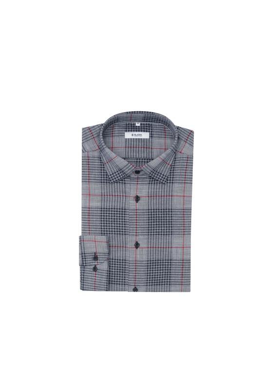 Košile informal extra slim, barva bílá, černá