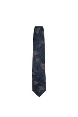 Kravata essential, barva modrá, béžová