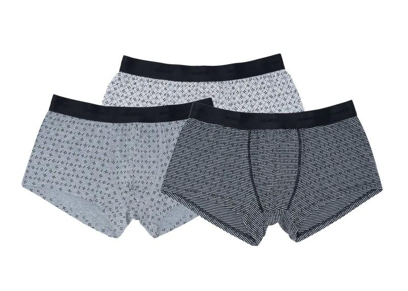 3pack - boxerky informal, barva šedá, černá