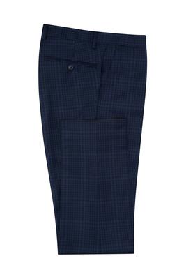 Oblekové kalhoty formal slim, barva modrá