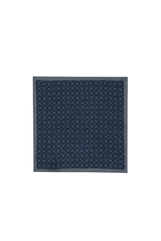 Kapesníček formal, barva šedá, modrá
