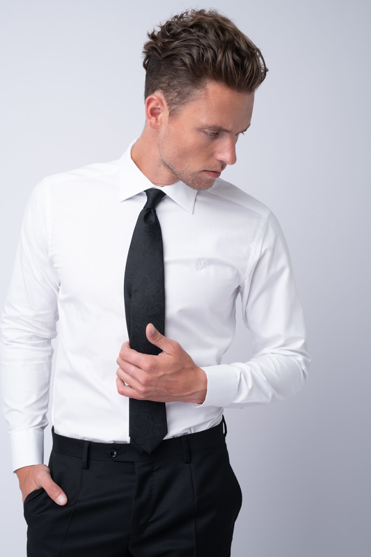 Bílá košile Z bavlny od Thomas Mason