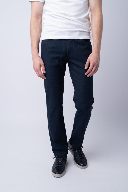 Volnočasové kalhoty Tmavě modré barvy