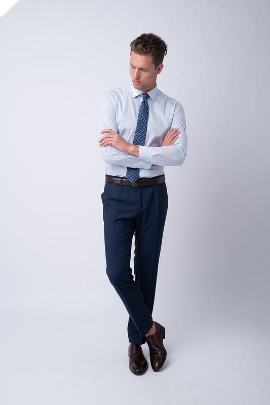 Oblekové kalhoty Z merino vlny a mohéru
