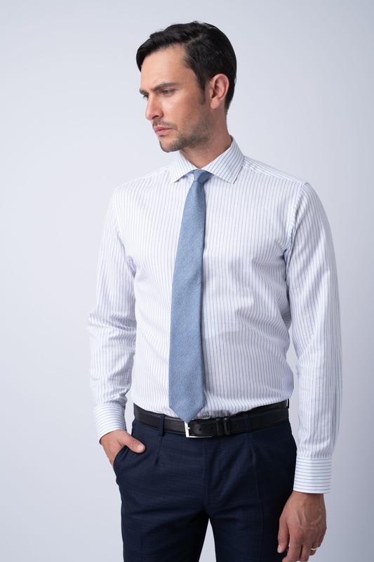 Formální košile Ze směsi bavlny a lnu