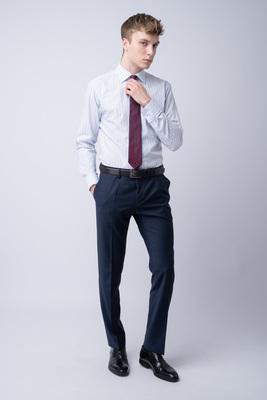 Oblekové kalhoty S károvaným vzorem