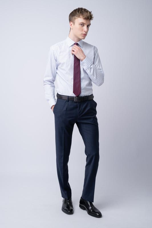 Kalhoty essential slim, barva modrá