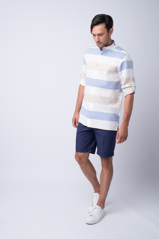 Krátké kalhoty informal, barva modrá