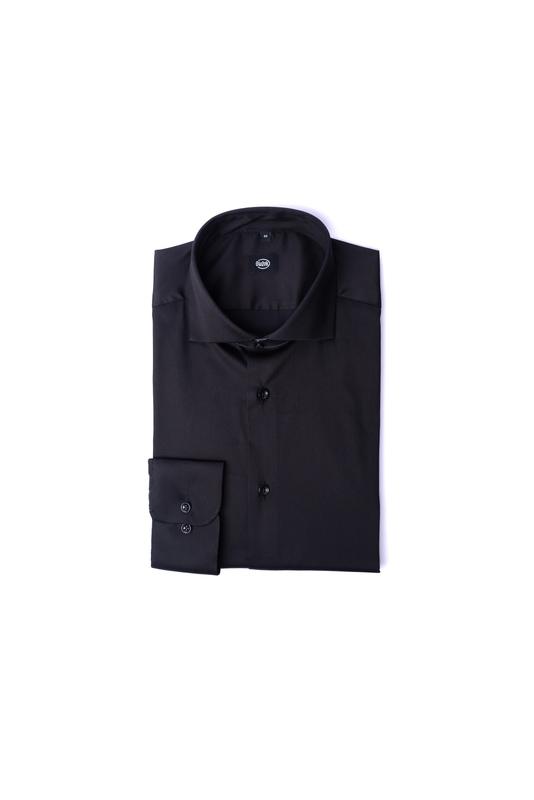 Černá košile Vhodná do obleku