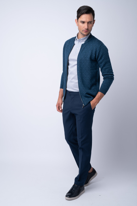 Kalhoty informal slim, barva modrá