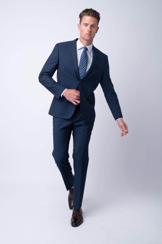 Oblekové sako Z merino vlny a mohéru
