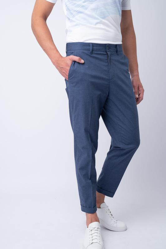 Neformální kalhoty Světle modré barvy