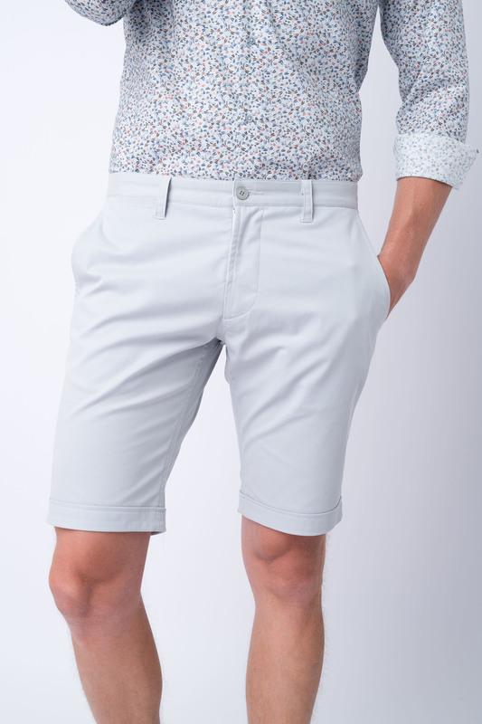 Krátké kalhoty informal extra slim, barva šedá