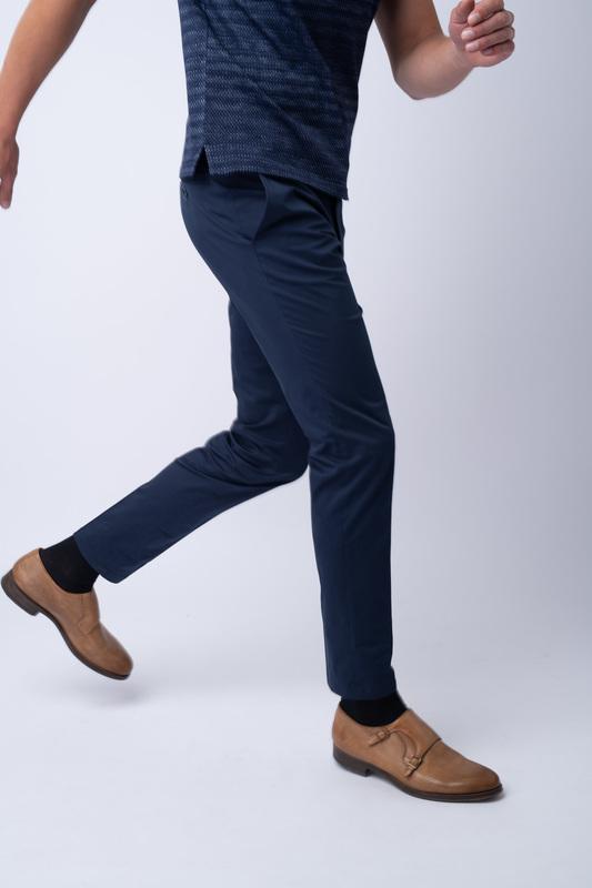 Neformální kalhoty Tmavě modré barvy