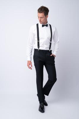 Luxusní kalhoty Z merino vlny a mohéru