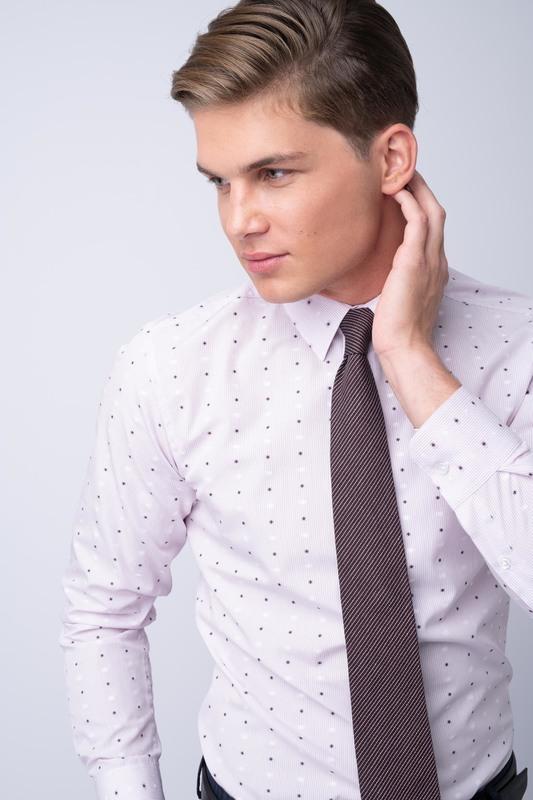 Košile formal extra slim, barva růžová