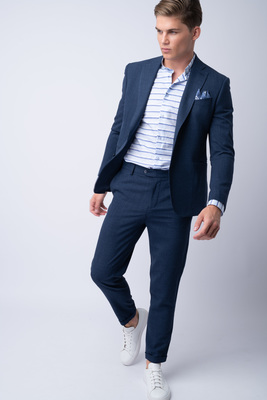 Oblekové sako Z merino vlny a hedvábí
