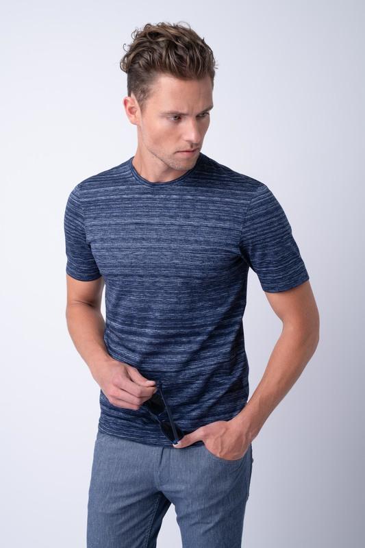 Volnočasové triko V odstínech modré