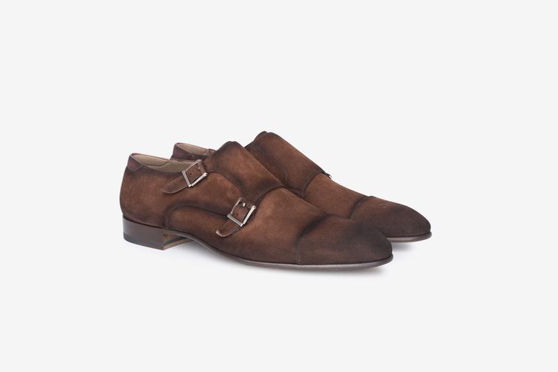 Velurové monk shoes S dvojitou přezkou