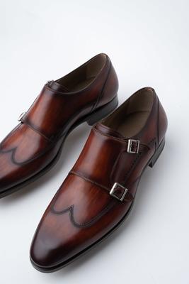 1456978129 Kožené monk shoes S dvojitou přezkou