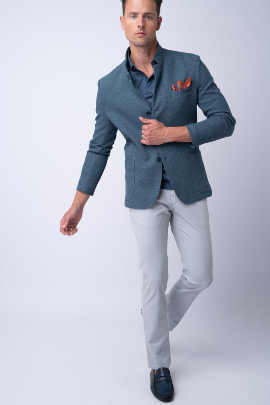 Neformální kalhoty Světle šedé barvy