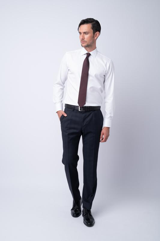 Oblekové kalhoty Z jemné merino vlny