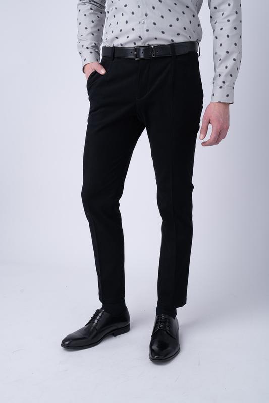 Neformální kalhoty Antracitově černé barvy