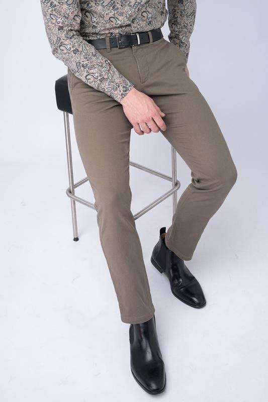 Neformální kalhoty S jemným žakárovým vzorem